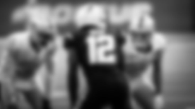 View director of photography Michael Clemens' top picks of black and white photos from the Raiders' Week 9 victory against the Los Angeles Chargers at SoFi Stadium.