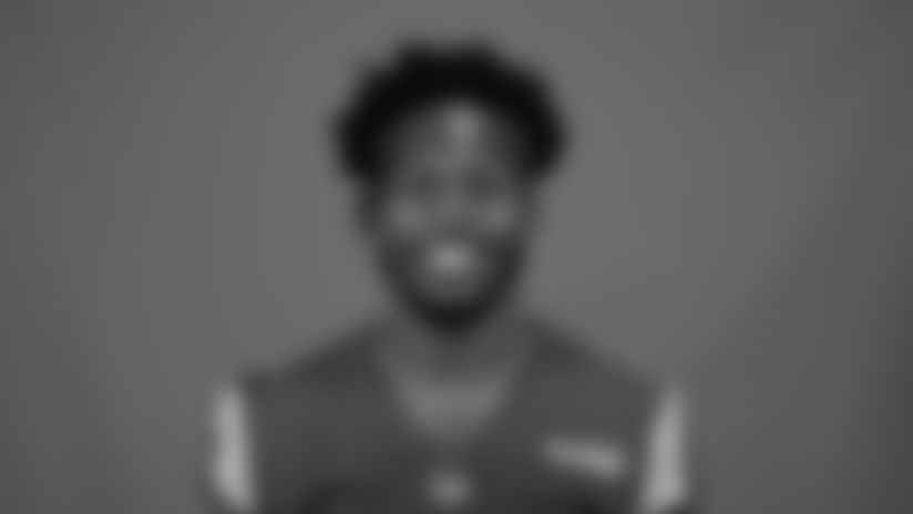 This is a 2020 photo of Dont'e Deayon of the Los Angeles Rams NFL football team.  This image reflects the Los Angeles Rams active roster as of August 8th, 2020 when this image was taken. (Los Angeles Rams)