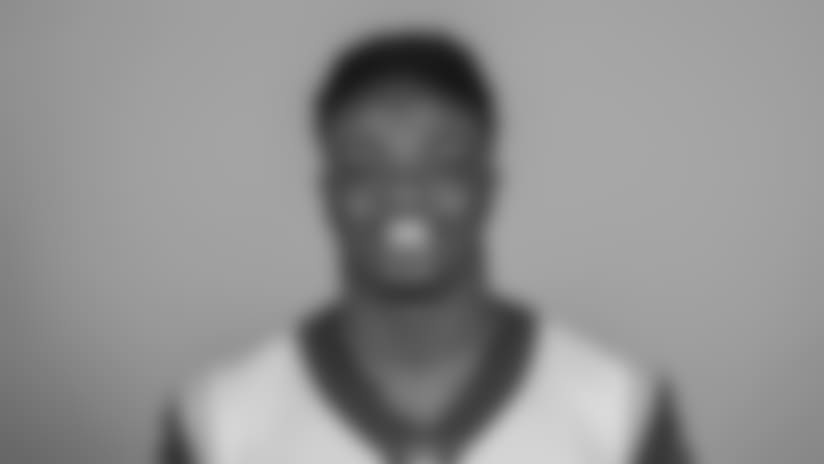 Headshot of linebacker (50) Samson Ebukam of the Los Angeles Rams, Thursday, June 11, 2018, in Thousand Oaks, CA.