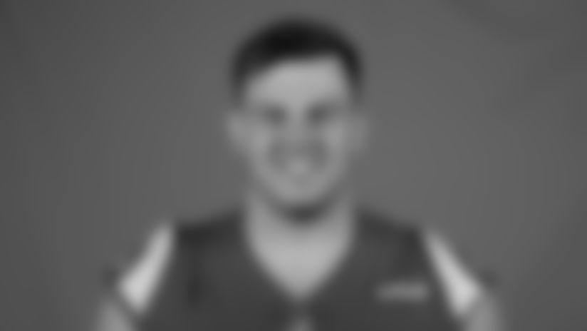 This is a 2020 photo of Austin Blythe of the Los Angeles Rams NFL football team.  This image reflects the Los Angeles Rams active roster as of August 8th, 2020 when this image was taken. (Los Angeles Rams)