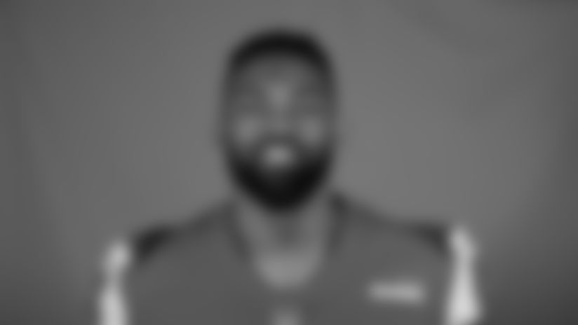 This is a 2020 photo of Michael Brockers of the Los Angeles Rams NFL football team.  This image reflects the Los Angeles Rams active roster as of August 8th, 2020 when this image was taken. (Los Angeles Rams)