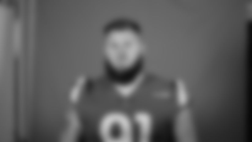 This is a 2020 photo of Greg Gaines of the Los Angeles Rams NFL football team.  This image reflects the Los Angeles Rams active roster as of August 8th, 2020 when this image was taken. (Los Angeles Rams)