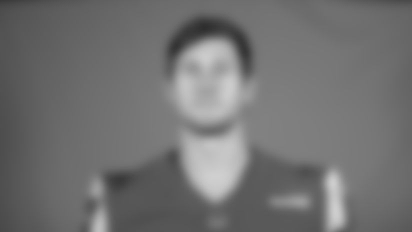 This is a 2020 photo of Johnny Mundt of the Los Angeles Rams NFL football team.  This image reflects the Los Angeles Rams active roster as of August 8th, 2020 when this image was taken. (Los Angeles Rams)