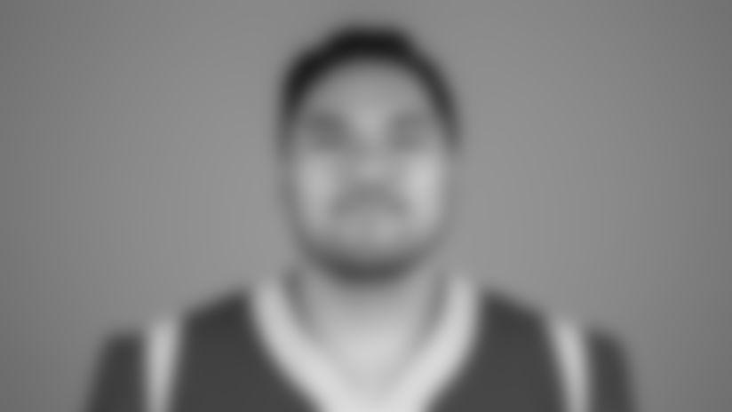 Offensive lineman (61) Jeremiah Kolone of the Los Angeles Rams headshot, Monday, June 10, 2019, in Thousand Oaks, CA. (Jeff Lewis/Rams)