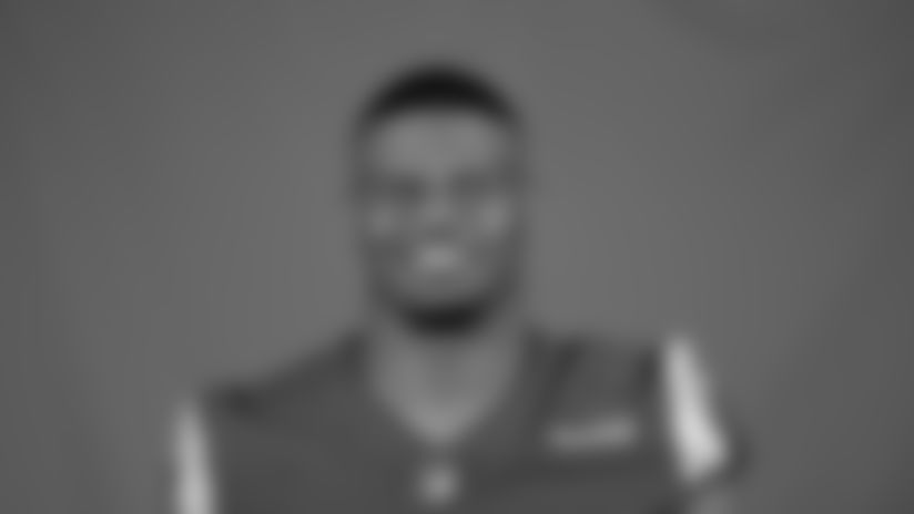 This is a 2020 photo of Micah Kiser of the Los Angeles Rams NFL football team.  This image reflects the Los Angeles Rams active roster as of August 8th, 2020 when this image was taken. (Los Angeles Rams)
