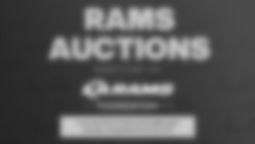 All proceeds from the auction sales and donations will benefit the Los Angeles Rams Foundation in support of the team's community outreach programs.