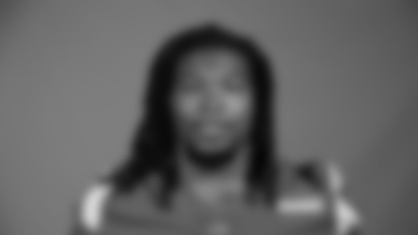 This is a 2020 photo of Darrell Henderson Jr. of the Los Angeles Rams NFL football team.  This image reflects the Los Angeles Rams active roster as of August 8th, 2020 when this image was taken. (Los Angeles Rams)