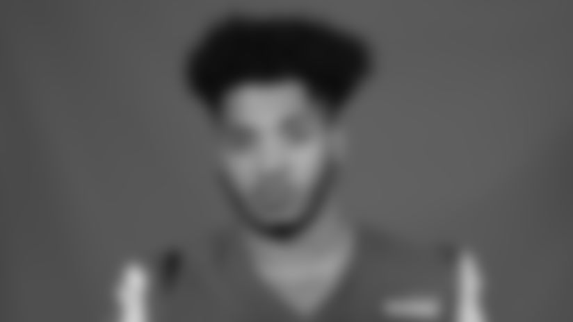 This is a 2020 photo of Xavier Jones of the Los Angeles Rams NFL football team.  This image reflects the Los Angeles Rams active roster as of August 8th, 2020 when this image was taken. (Los Angeles Rams)