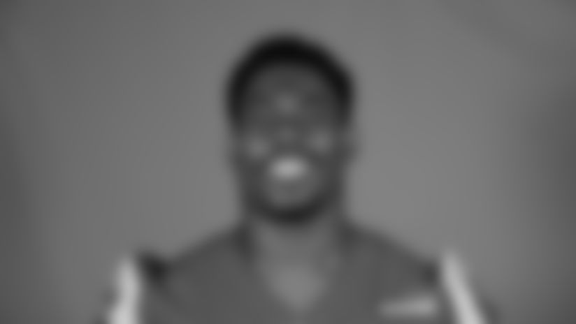 This is a 2020 photo of Sebastian Joseph-Day of the Los Angeles Rams NFL football team.  This image reflects the Los Angeles Rams active roster as of August 8th, 2020 when this image was taken. (Los Angeles Rams)