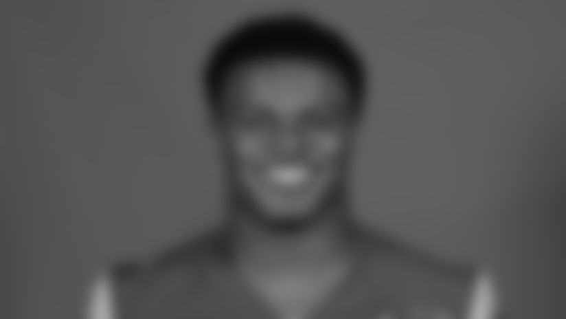 This is a 2020 photo of JuJu Hughes of the Los Angeles Rams NFL football team.  This image reflects the Los Angeles Rams active roster as of August 8th, 2020 when this image was taken. (Los Angeles Rams)
