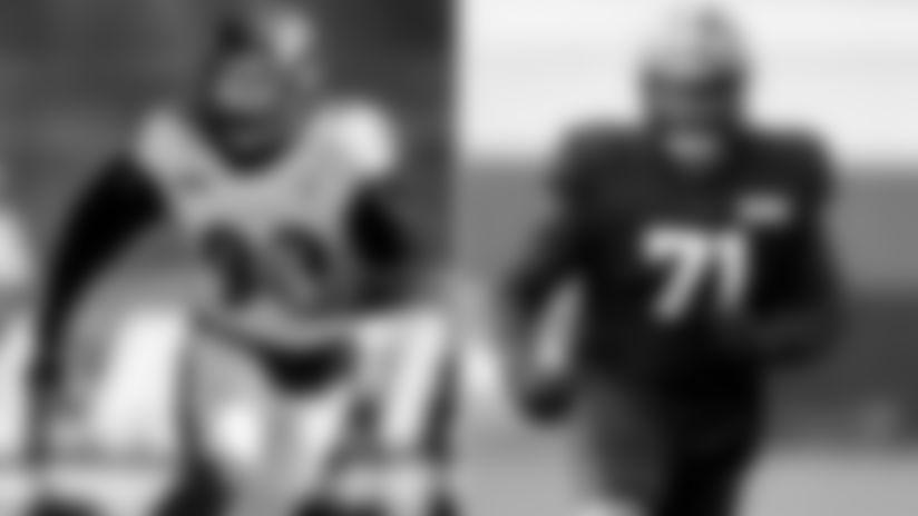 Left: OLB Matthew Judon; Right: OT Jedrick Wills Jr.