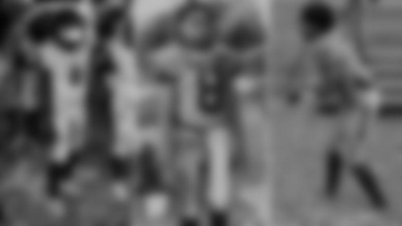 Nehemiah Howard wears a number 8 Ravens uniform.
