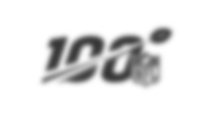 NFL Huddle For 100 Logo