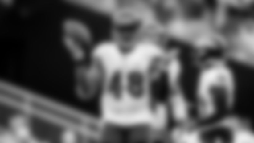 **ILB Patrick Onwuasor**   After missing two games, he's expected back after the bye. He looked like his old self in Week  5 against the Steelers, returning to weakside linebacker after four games at middle linebacker. An excellent tackler and blitzer, Onwuasor could be a key playmaker in the second half of the season.