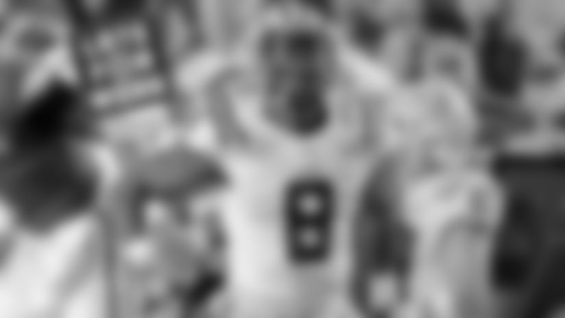 LSU linebacker Patrick McQueen celebrates after a sack.
