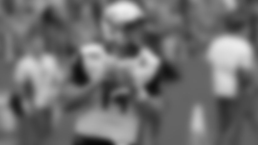 Towson quarterback Tom Flacco looks for a receiver.