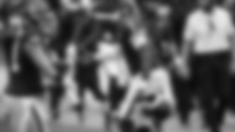 Washington Football Team quarterback Dwayne Haskins (7) reacts with defensive end Ryan Kerrigan (91) during an NFL football game against the Philadelphia Eagles, Sunday, Sep. 13, 2020 in Landover, Md. (Alika Jenner/NFL)
