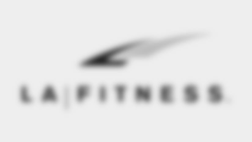 Cheerleaders Sponsors Logo LA Fitness