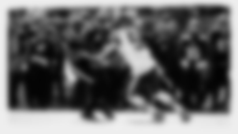 Philadelphia Eagles' Zach Ertz, left, is tackled by Chicago Bears' Danny Trevathan during the first half of an NFL football game, Sunday, Nov. 3, 2019, in Philadelphia. (AP Photo/Matt Rourke)