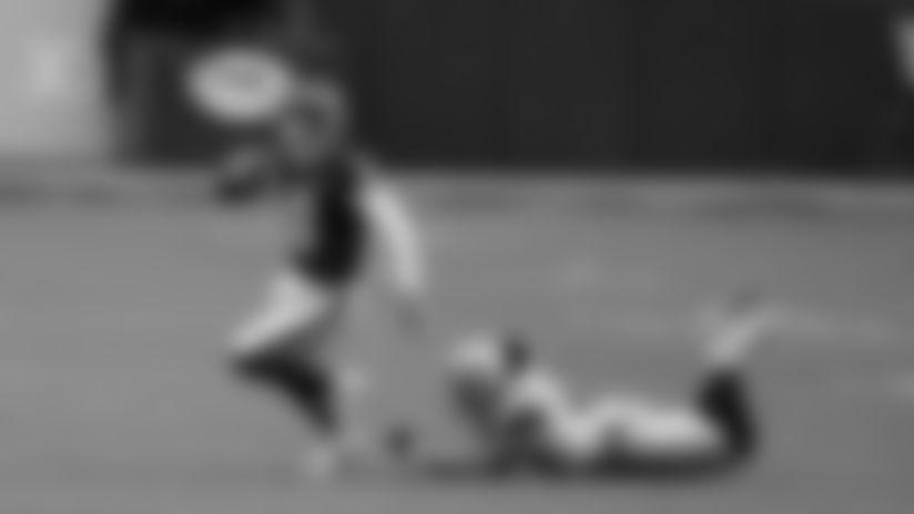 Kyle Allen evades a defender in the Washington Football Team's 25-3 win over the Dallas Cowboys. (Emilee Fails/Washington Football Team)