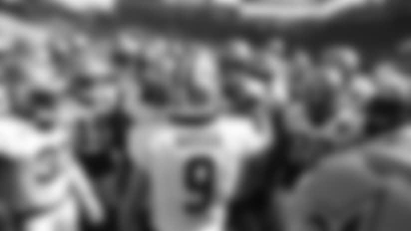Drew Brees Pregame Huddle: Saints vs. Chargers