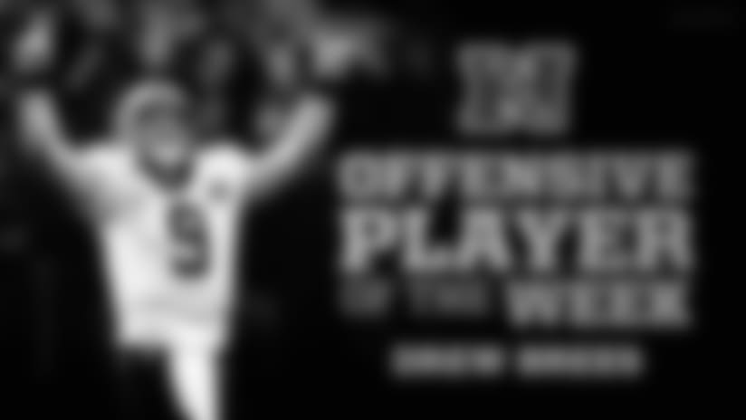 Drew Brees named NFC Offensive Player of the Week