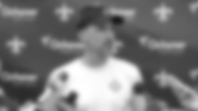 New Orleans Saints defensive coordinator Dennis Allen sharpening details
