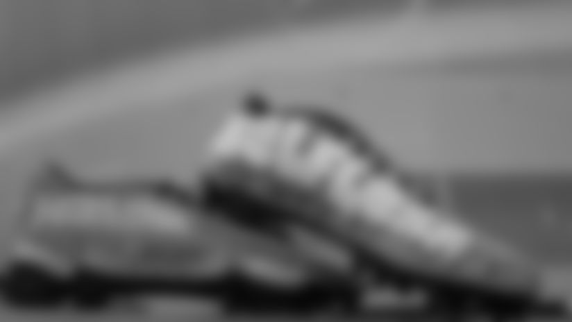**C.J. Gardner-Johnson:** Boys Town & Raintree Family Services- Foster Care Support and Awareness  Cleats designed by Sandi Demeo