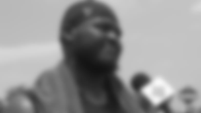 David Onyemata's Training Camp media availability - July 29