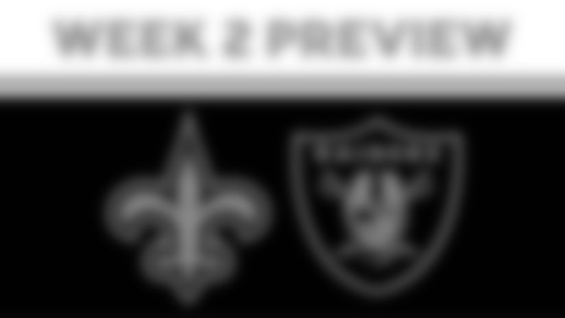 Saints at Raiders 2020 Week 2 Preview