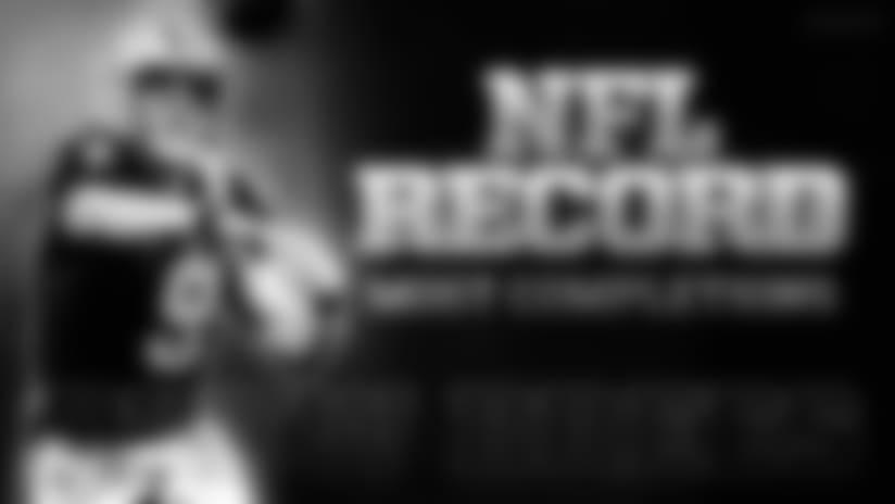 Saints quarterback moved past Brett Favre during Falcons game