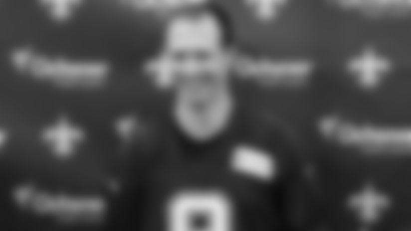 Drew Brees media availability - 2019 Saints Training Camp - Friday, July 26