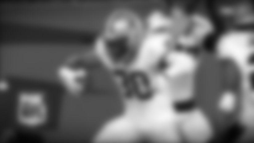 Grant Haley intercepts the Teddy Bridgewater pass vs. Carolina Panthers