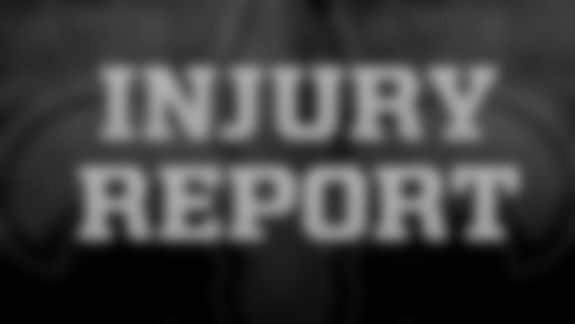 New Orleans Saints Estimated Monday Injury Report: 2018 Week 12 vs. Atlanta Falcons