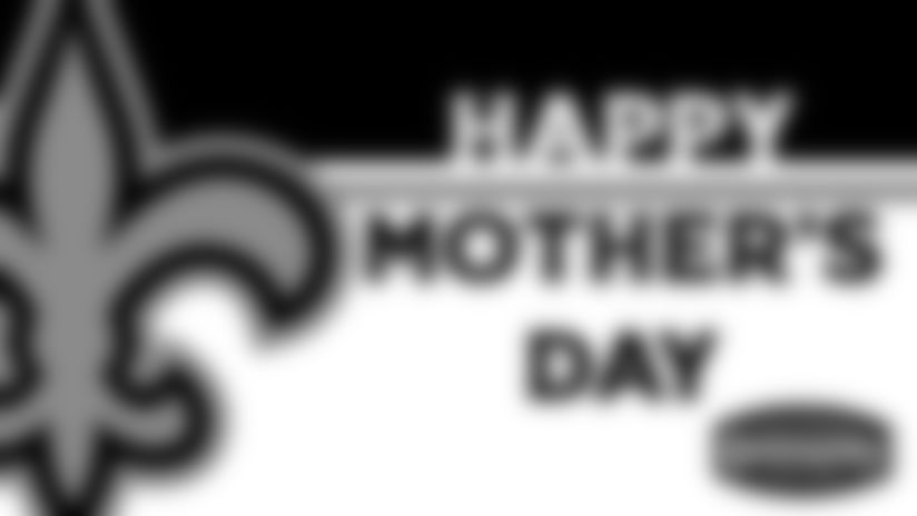 Happy Mother's Day from Taysom Hill, Marcus Davenport, and Cesar Ruiz