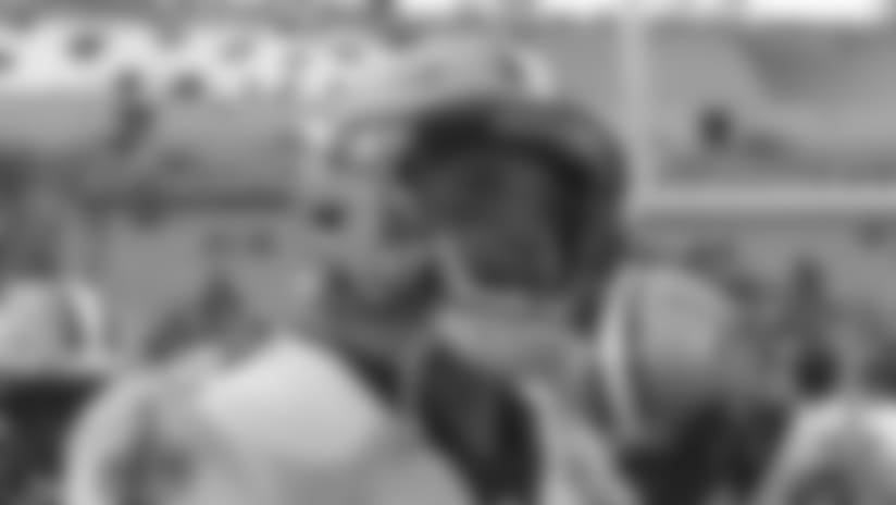 Drew Brees Pregame Huddle in Jacksonville