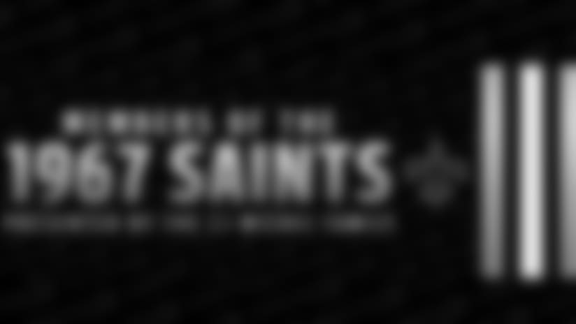 The 1967 Saints recognized at Saints-Rams Game
