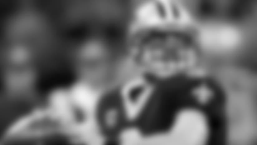 John DeShazier's New Orleans Saints helmet stickers following win over Washington