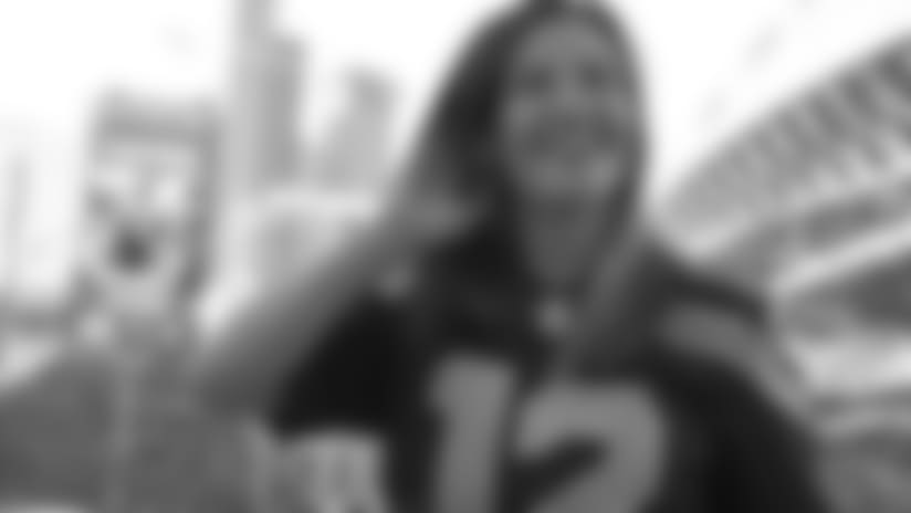 Miesha Tate Raises the 12 Flag Prior to Seahawks Game Against Cowboys