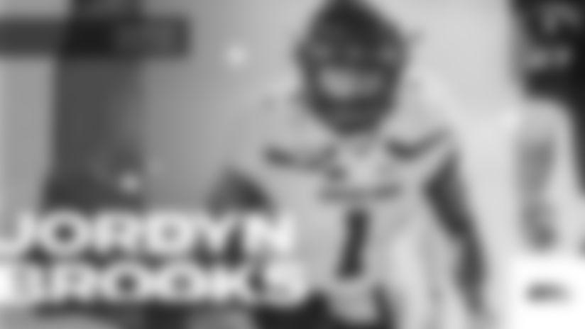 Texas Tech linebacker Jordyn Brooks (1) during an NCAA football game against Baylor