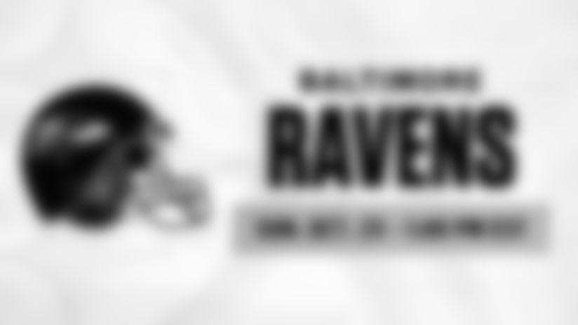 2020 Schedule Tray - Regular Season Week 7 - Baltimore