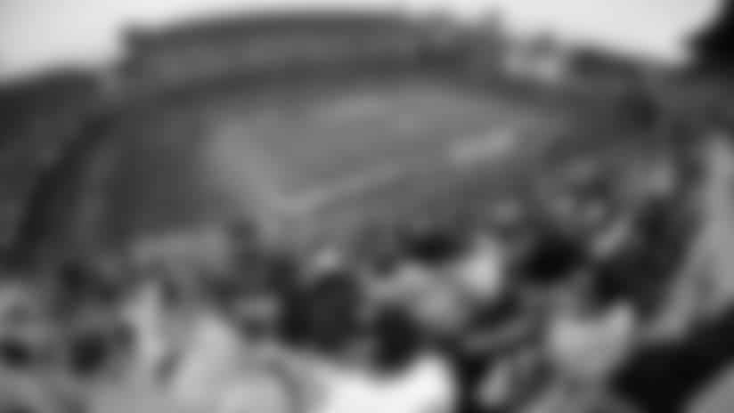 El punto de vista de Alvaro Martin y Luis Rodriguez desde el Palco de Steelers Radio en español en Heinz Field