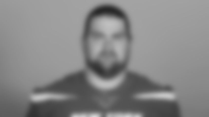 This is a 2019 photo of Brent Qvale of the New York Jets NFL football team. This image reflects the New York Jets active roster as of Monday, June 3, 2019 when this image was taken. (AP Photo)