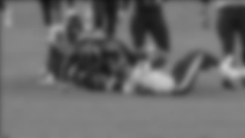 David King Forces Fumble, Nyles Morgan Recovers