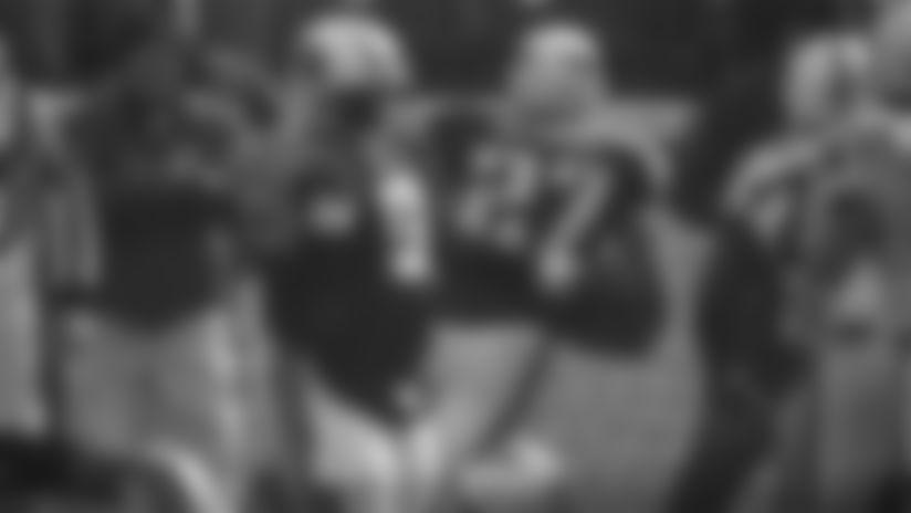 Titans Legends Steve McNair and Eddie George