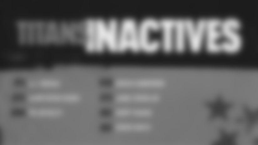 Titans-Jaguars Inactives | Week 2