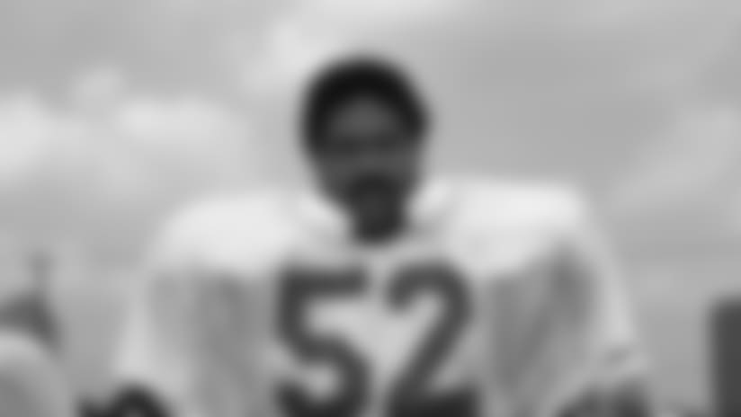 In this undated file photo Robert Brazile, linebacker for the Houston Oilers, poses for a photo. Though Brazile turned in his Dr. Doom persona decades ago for the role of Mr. Brazile, a special education teacher, he'll revisit the success of his first career on Saturday, Aug. 4, 2018 when he'll be one of eight men inducted into the Pro Football Hall of Fame. Brazile is part of a class which includes Bobby Beathard, Brian Dawkins, Jerry Kramer, Ray Lewis, Randy Moss, Brian Urlacher and Terrell Owens. (AP Photo, file)