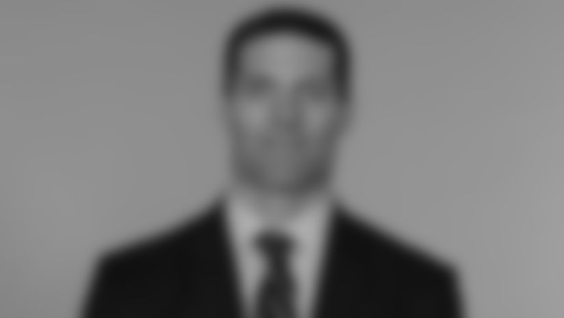 This is a 2014 photo of Nick Caserio of the New England Patriots NFL football team.  This image reflects the New England Patriots active roster as of June 11, 2014 when this image was taken.