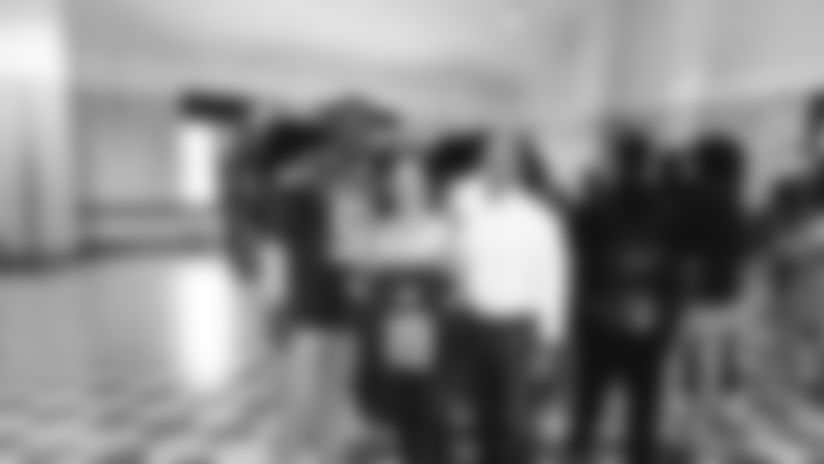 LB Brandon Copeland Surprises M&T Bank Touchdown for Teachers Winner