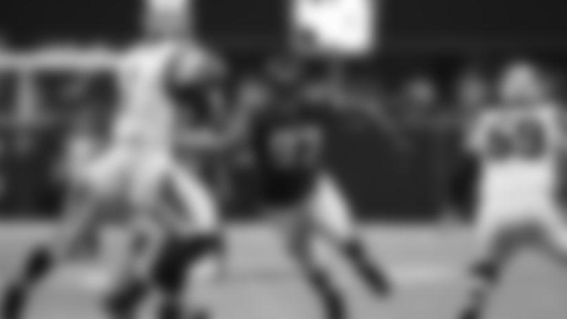 Atlanta Falcons defensive tackle Grady Jarrett (97) during an NFL football game against the Carolina Panthers, Sunday, September 16, 2018, in Atlanta. The Falcons won 31-24. (Paul Abell via AP)